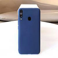 Чехол Soft Touch для Samsung Galaxy A20s (A207) силикон бампер темно-синий