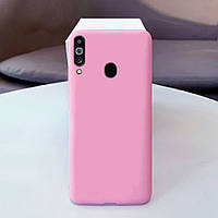 Чехол Soft Touch для Samsung Galaxy A20s (A207) силикон бампер светло-розовый