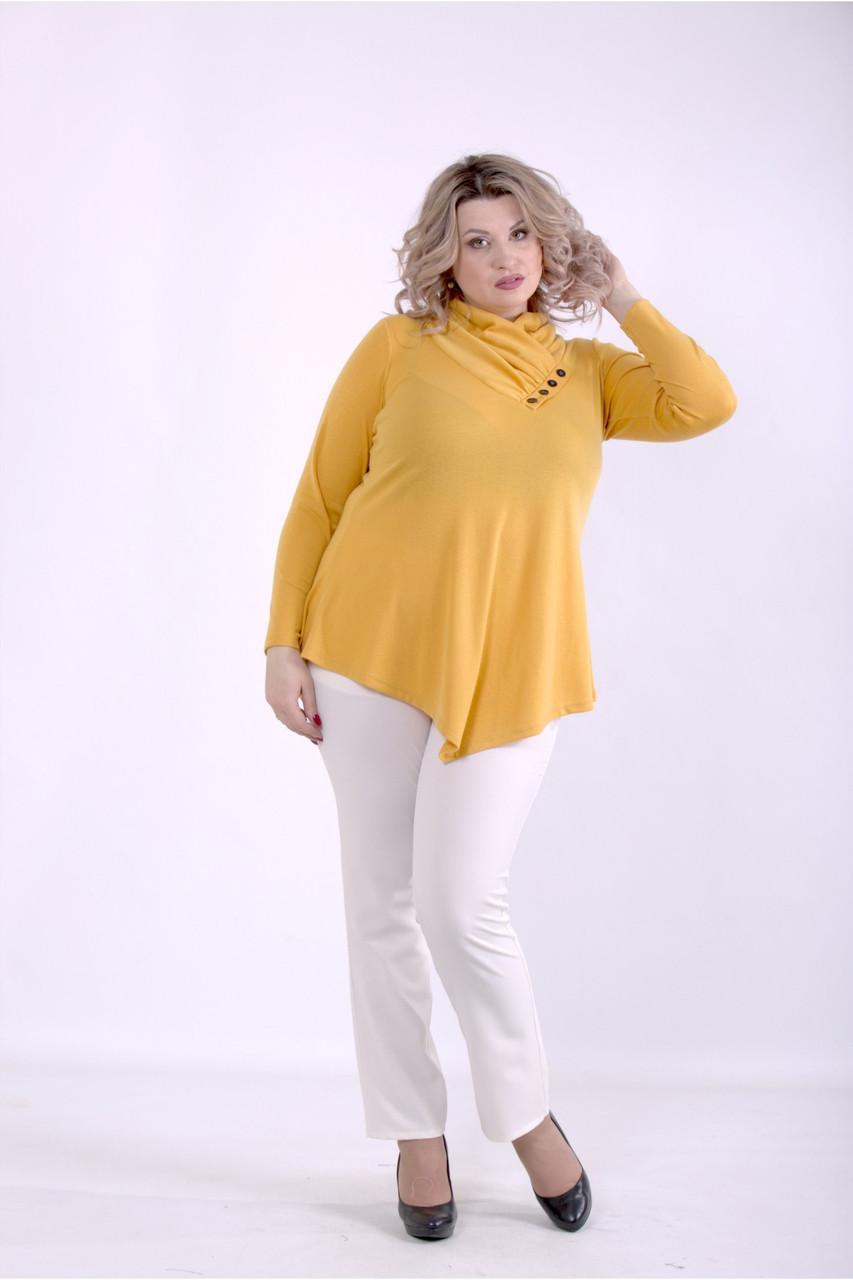 01403-3   Оранжевая блузка большого размера