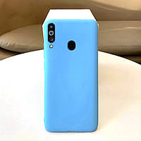 Чехол Soft Touch для Samsung Galaxy A20s (A207) силикон бампер мятно-голубой