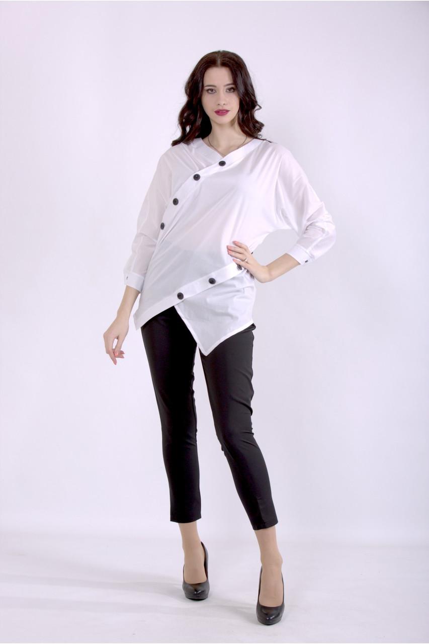 01405-1   Біла блузка великого розміру