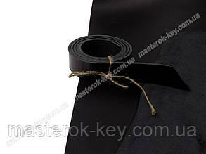 Полоса ременная из натуральной кожи цвет черный с покрытием 1100*38*4 мм