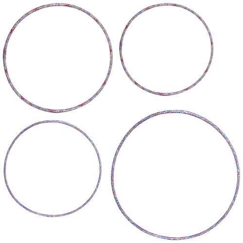 Пластиковые обручи детские набор 4 штуки M 5968-4 диаметр 83/74/71/64 см