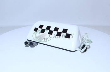 Знак такси (фонарь) белый 2302.3738-02 (пр-во Украина)