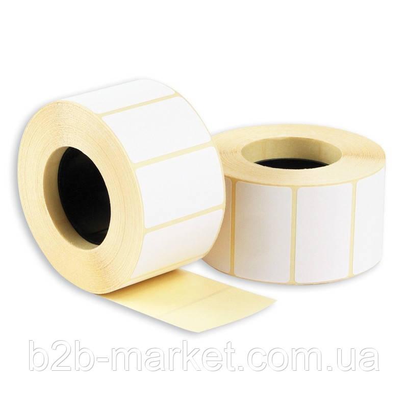 Етикетка напівглянець (термотрансферна)  40мм*25мм (2000 етикеток)