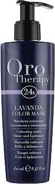 "Тонирующая маска для волос ""Лаванда"" - Fanola Oro Therapy Colouring Mask 250ml"