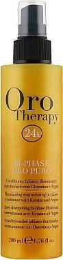 Восстанавливающий двухфазный спрей-кондиционер с кератином - Fanola Oro Therapy 200ml