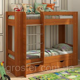 Двухъярусная кровать с ящиками Дуэт-3. Детская двухэтажная кровать