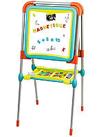 """Детский двухсторонний мольберт """"Буквы и цифры"""" Smoby 410103 доска для рисования (дитяча дошка для малювання)"""