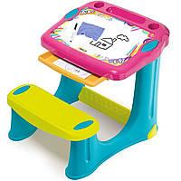 """Пластиковая парта-мольберт с выдвижным ящиком """"Магическая"""" Smoby 420219"""