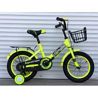 Детский двухколесный велосипед Rider  09 салатовый (на рост от 105 см) 14 дюймов салатовый