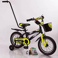 Детский двухколесный велосипед HAMMER S600 (от 2 до 5 лет) на 12 дюймов салатовый
