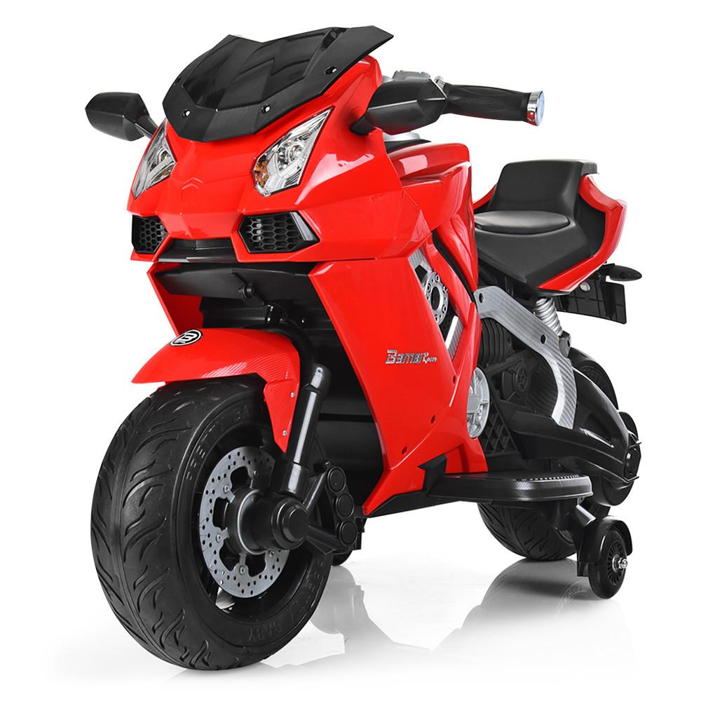 Детский Мотоцикл Bambi красный 3637