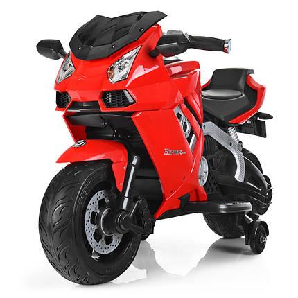 Детский Мотоцикл Bambi красный 3637, фото 2