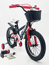 Детский двухколесный велосипед D-JEEP черный 16 дюймов