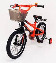 Детский двухколесный велосипед STORM на 16 дюймов оранжевый