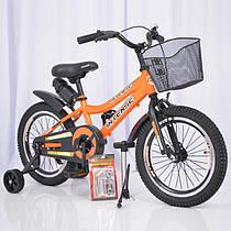Детский двухколесный велосипед  (от 5 лет) на 16 дюймов  INTENSE оранжевый