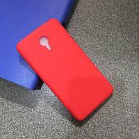 Чехлы для Meizu M3 Note Cиликоновые матовые Красный