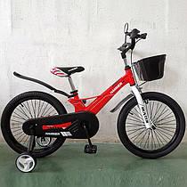 Детский двухколесный велосипед 1850D HAMMER HUNTER Магниевая рама (Magnesium) 18 дюймов красный