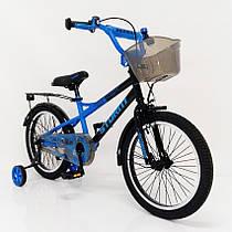 Детский двухколесный велосипед STORM синий 18 дюймов