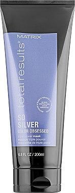 Маска для захисту кольору світлого волосся - Matrix Total Results Color Obsessed So Silver Triple Power Mask 200ml