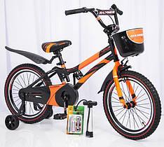 Детский двухколесный велосипед HAMMER S500 оранжевый 18 дюймов