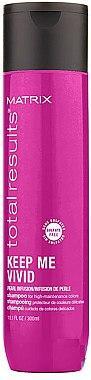 Шампунь для яскравих відтінків фарбованого волосся - Matrix Total Results Keep Me Vivid 300ml Shampoo