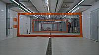 Штора для автомойки с прозрачной ПВХ вставкой
