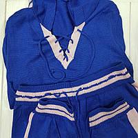 Костюм трикотажный с капюшоном Softy Dark-blue