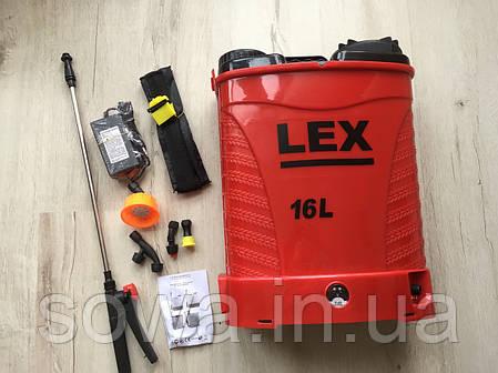 ✔️  Аккумуляторный садовый опрыскиватель LEX_PROFI  / 16L , 15Ah, фото 2