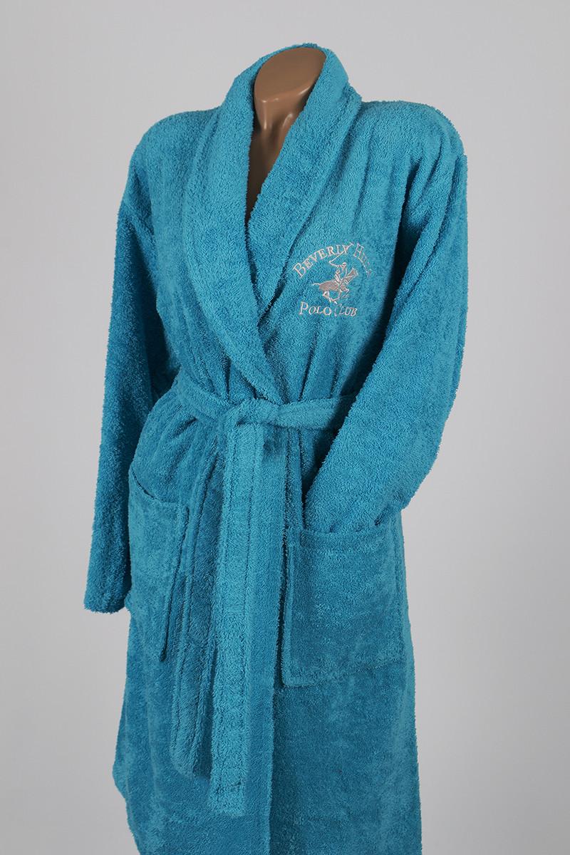 Халат Beverly Hills Polo Club - 355BHP1712 L/XL turquoise бирюзовый