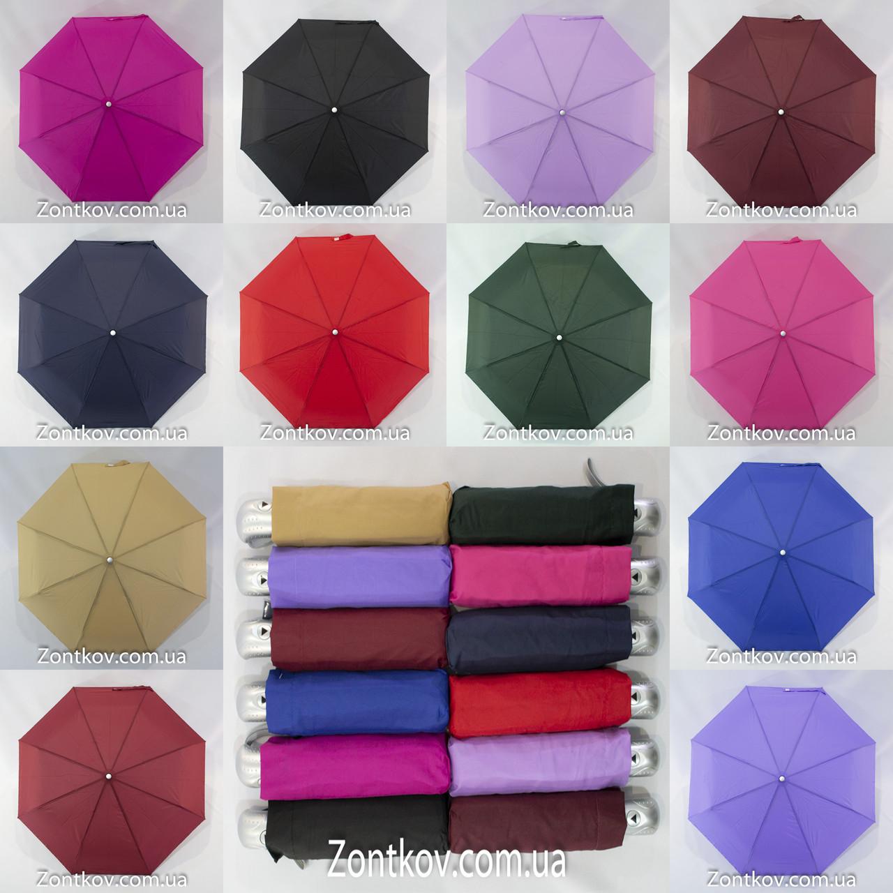 """Однотонный зонтик полуавтомат оптом на 8 карбоновых спиц от фирмы """"MARIO"""""""
