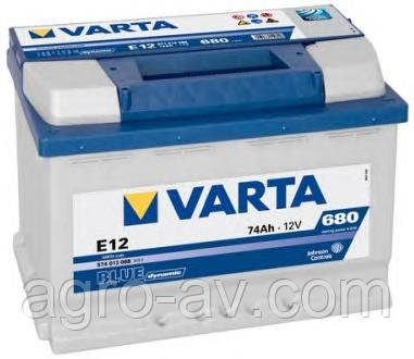Аккумулятор 74Ah-12v VARTA BD(E12) (278x175x190),L,EN680