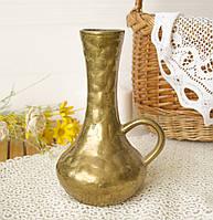 Старый бронзовый кувшин ручной работы, бронза, Германия, 19 см, фото 1
