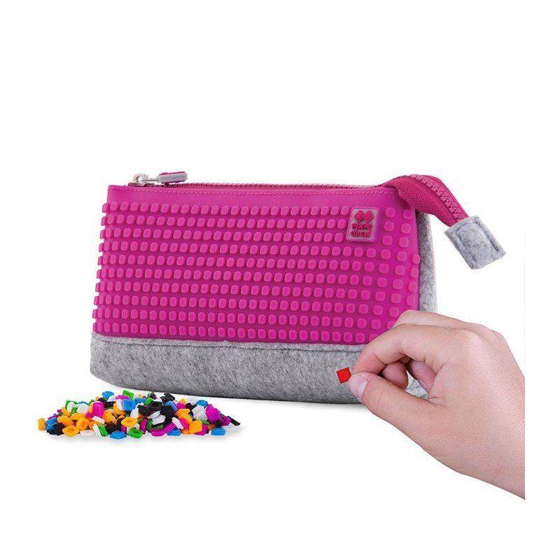 Пенал-косметичка Pixie Crew Crazy Colors розовый   PXA-01-W15
