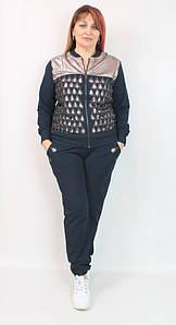 Турецкий женский костюм в спортивном стиле со стразами, размеры 50-60