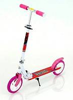 Складной двухколесный самокат Scooter 460 Pink