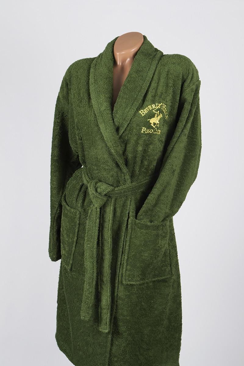Халат Beverly Hills Polo Club - 355BHP1707 S/M khaki хаки