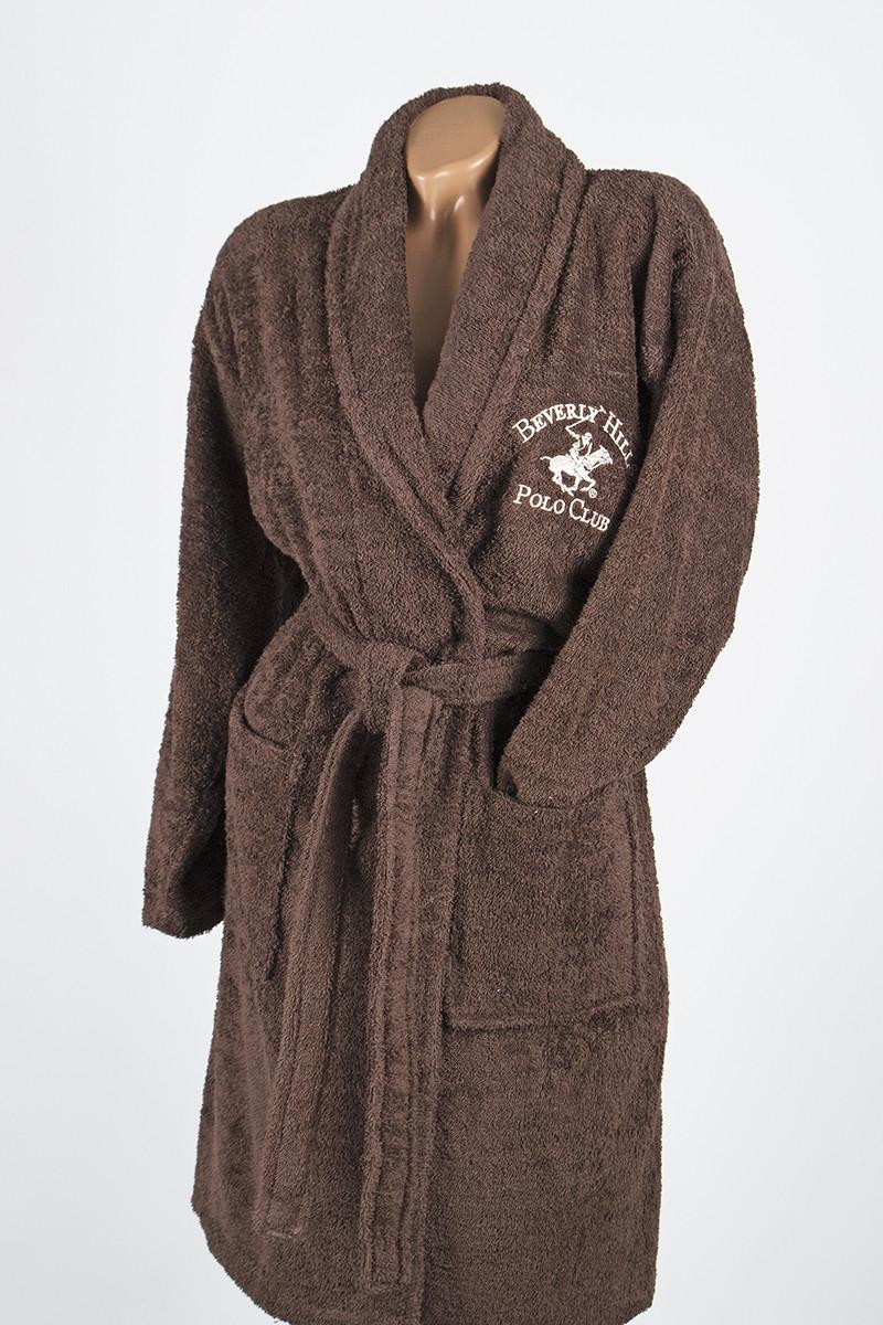 Халат Beverly Hills Polo Club - 355BHP1703 S/M brown коричневый