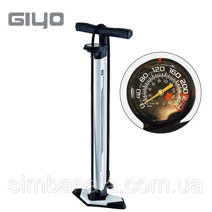 Насос напольный двухкамерный для бескам.покрышек GIYO GF-94TA AV/FV (2
