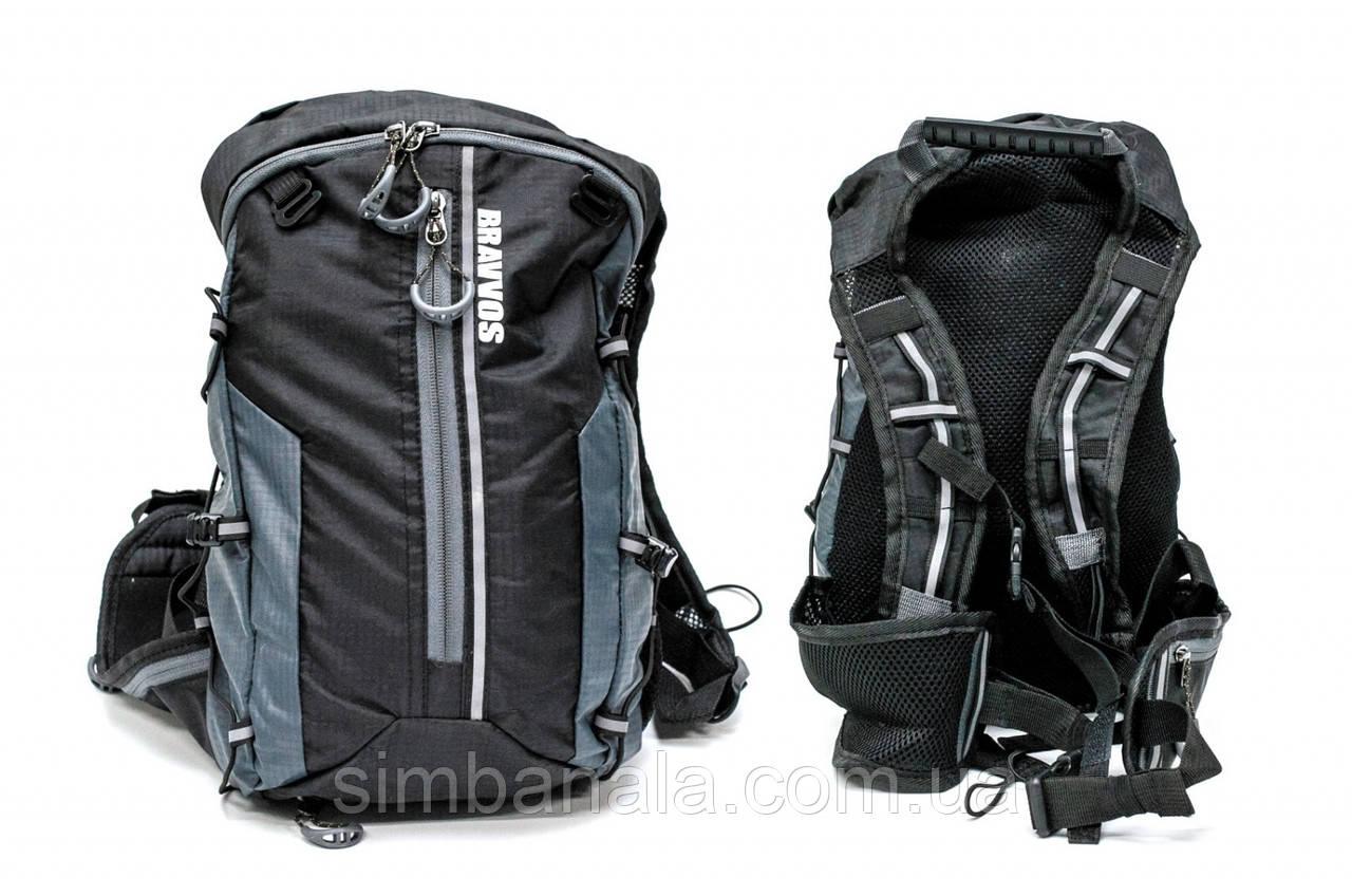 Рюкзак QIJIAN BAGS B-300 44х26х9cm черно-серый