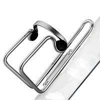 Флягодержатель BC-BH9253 AL с пласт. клипсами silver