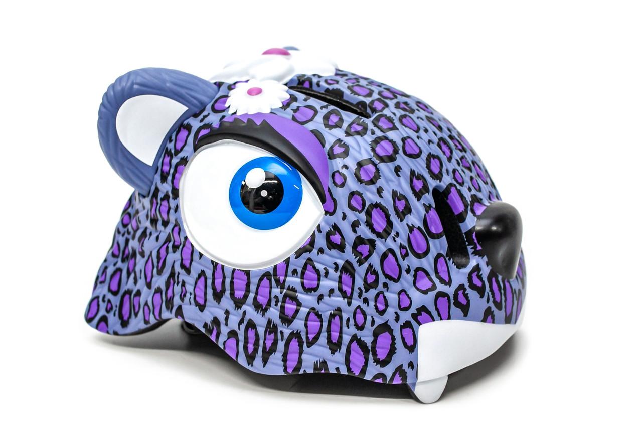 """Детский шлем для девочки CIGNA """"Пурпурный леопард"""""""