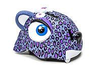 """Детский шлем для девочки CIGNA """"Пурпурный леопард"""", фото 1"""