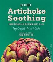 Гидрогелевая успокаивающая маска для лица с экстрактом артишока - Petitfee Artichoke Soothing Face Mask 5x32g