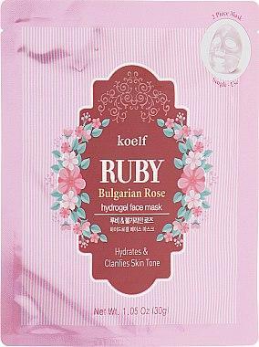 Гидрогелевая маска для лица с рубином - Petitfee&Koelf Ruby & Bulgarian Rose Hydro Gel Mask 1шт