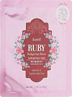 Гидрогелевая маска для лица с рубином - Petitfee&Koelf Ruby & Bulgarian Rose Hydro Gel Mask 1шт, фото 1