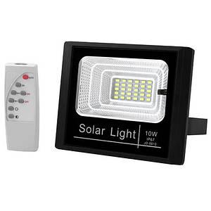 Светодиодный LED прожектор с солнечной панелью и пультом LAMP JD-8810 10W SMD