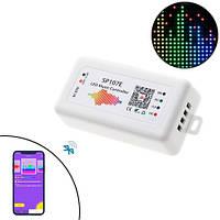 Контроллер музыкальный Bluetooth для RGB лент модулей WS2812B, SP107E