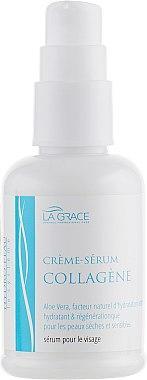 Крем-сыворотка с коллагеном и алоэ вера - La Grace Collagene Cream-serum 50ml